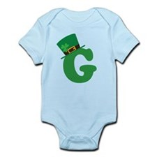 St. Patrick's Day Letter G Infant Bodysuit