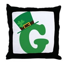 St. Patrick's Day Letter G Throw Pillow
