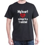 My Heart Belongs to a Trekkie Dark T-Shirt