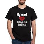 My Heart Belongs to a Trekkie Dark T-Shirt