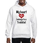 My Heart Belongs to a Trekkie Hooded Sweatshirt