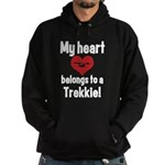 My Heart Belongs to a Trekkie Hoodie (dark)