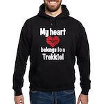 My Heart Belongs to a Trekkie Hoodie (dark)