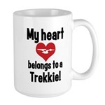 My Heart Belongs to a Trekkie Large Mug