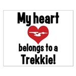My Heart Belongs to a Trekkie Small Poster