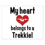 My Heart Belongs to a Trekkie Small Poster