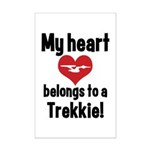 My Heart Belongs to a Trekkie Mini Poster Print