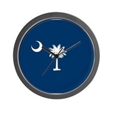 South Carolina Palmetto Flag Wall Clock