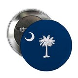 "South Carolina Palmetto Flag 2.25"" Button"