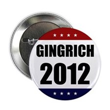 "Red Blue Stars Newt Gingrich 2.25"" Button (10 pack"