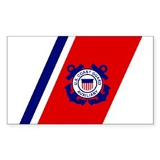 USCG Auxiliary Stripe<BR> Horizontal Decal