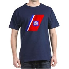 USCG Auxiliary Stripe<BR> Black T-Shirt 1