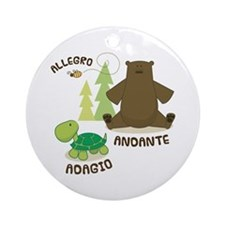 Allegro Andante Music Quote Ornament (Round)