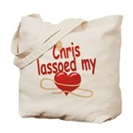 Chris Lassoed My Heart Tote Bag
