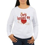 Chris Lassoed My Heart Women's Long Sleeve T-Shirt