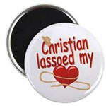 Christian Lassoed My Heart Magnet