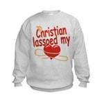 Christian Lassoed My Heart Kids Sweatshirt