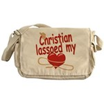 Christian Lassoed My Heart Messenger Bag