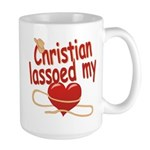 Christian Lassoed My Heart Large Mug