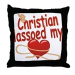 Christian Lassoed My Heart Throw Pillow