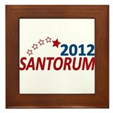 Vote Santorum 2012 Framed Tile