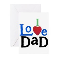I Love Dad Greeting Cards (Pk of 10)