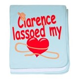 Clarence Lassoed My Heart baby blanket