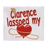 Clarence Lassoed My Heart Throw Blanket