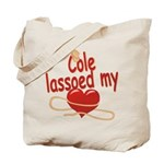 Cole Lassoed My Heart Tote Bag