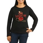 Cole Lassoed My Heart Women's Long Sleeve Dark T-S