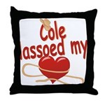 Cole Lassoed My Heart Throw Pillow