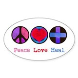 Peace Love Heal Decal