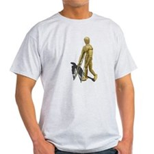 Model Walking with Crutches T-Shirt