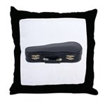 Music Case Laying Down Throw Pillow
