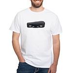 Music Case Laying Down White T-Shirt