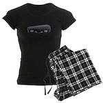 Music Case Laying Down Women's Dark Pajamas