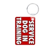 Service Dog in Training Aluminum Photo Keychain