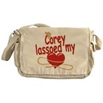 Corey Lassoed My Heart Messenger Bag