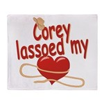 Corey Lassoed My Heart Throw Blanket