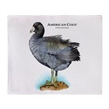 American Coot Throw Blanket