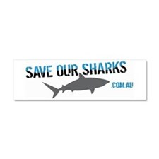 Save Our Sharks Car Magnet 10 x 3