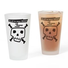 Cute Zipper Drinking Glass