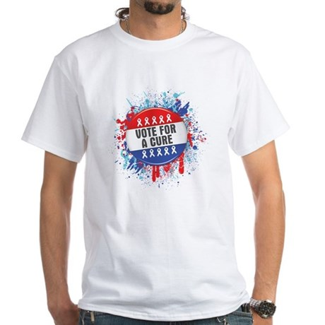 Vote for a Cure For Cancer White T-Shirt