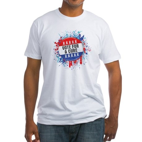 Vote for a Cure For Cancer Fitted T-Shirt