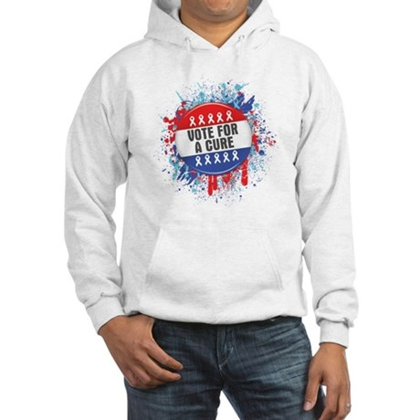 Vote for a Cure For Cancer Hooded Sweatshirt