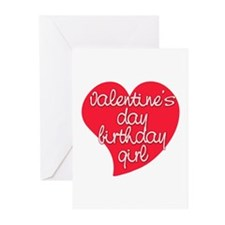 Valentine Day Birthday Girl Greeting Cards (Pk of