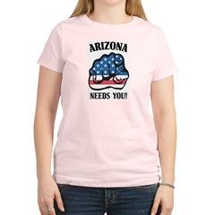 Arizona Needs You Women's Pink T-Shirt