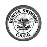 Rescue Swimmer (Ver 2) Wall Clock