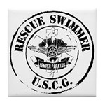 Rescue Swimmer (Ver 2) Tile Coaster