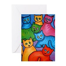 One Cat Two Cat Greeting Cards (Pk of 20)